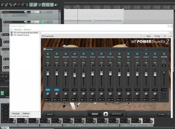 Das VST-Instrument MT Power Drum Kit ist kostenlos