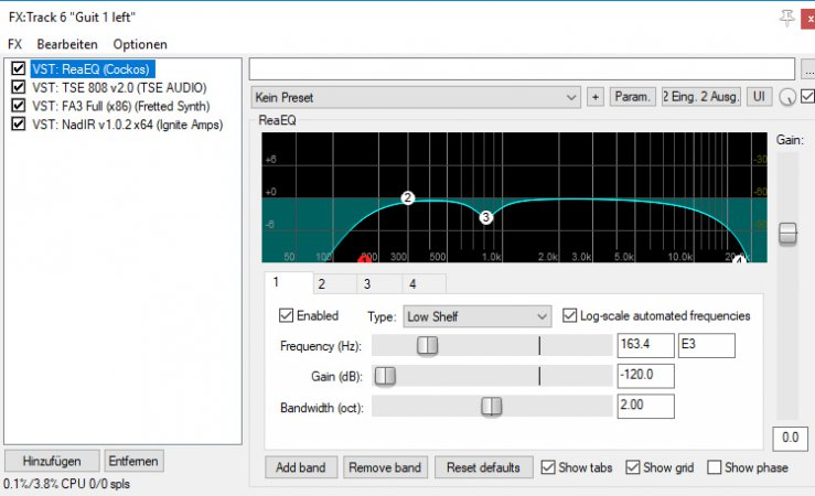 Equalizer, Amps und Amp-Simulation sorgen für den richtigen Gitarrensound