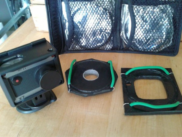 Meine Makrolinsen-Vorsätze für die Actionpro X7, für die Cam und das Unterwassergehäuse.