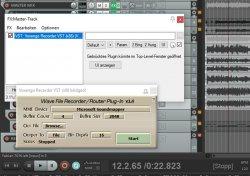Mit dem kostenlosen VST-Plugin Voxengo Recorder kann man den Reaper Ausgang in OBS aufnehmen