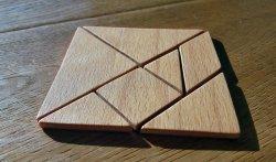 Sieht edel aus und ist einfach zu machen: Ein Tangram-Legespiel aus Holz
