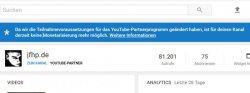 Schluss, aus und vorbei: Ich darf bei Youtube nichts mehr verdienen.
