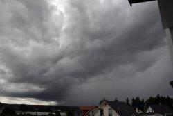 Diese Gewitterwolke entlud sich am Samstag über Hüfingen und Donaueschingen