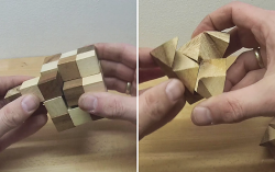 Damit ich es nicht mehr vergesse: Videolösung zum Stern Puzzle und zum Schlangenwürfel