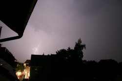 Blitz über Donaueschingen am 14.07.2010 - 6