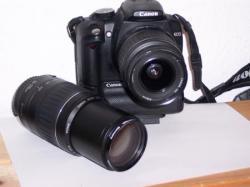 Meine Canon EOS 350 D mit zwei Kitobjektiven