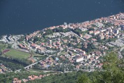 Blick vom Monte Giove runter auf Cannobio